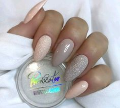 70 Eye-Catching and Fashion Acrylic Nails, Matte Nails, Glitter Nails Design You Should Try in Prom and Wedding that can help you out. We hope you like this collection. Cute Nails, Pretty Nails, Hair And Nails, My Nails, Design Rosa, Clean Nails, Pastel Nails, Simple Nails, Coffin Nails