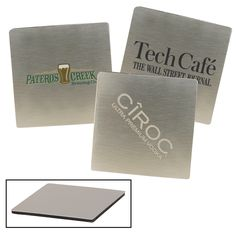 The Stainless Steel Square Custom Coaster makes a stylish addition to any table set or bar top. Features a square-shaped brushed stainless steel design, backed by a durable thick foam grip. Custom Coasters, Brushed Stainless Steel, Cactus, Table Settings, Place Card Holders, Bar, Stylish, Color, Design