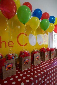 Sesame Street Elmo Theme Kids Birthday Party 0085 for Zoee. 1st Boy Birthday, 3rd Birthday Parties, Birthday Party Favors, Diy Elmo Birthday Party Ideas, Toddler Party Favors, Party Bags, Sesame Street Party, Sesame Street Birthday, Elmo And Cookie Monster