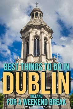 ireland travel Wondering on what to do in Dublin? Here are our suggested attractions and things to do in Dublin for a great weekend break of fun sightseeing in the city. Ireland Travel Guide, Dublin Travel, Europe Travel Tips, Travel Guides, Travel Destinations, Travel Plan, Travel Articles, Dublin Nightlife, Dublin Pubs