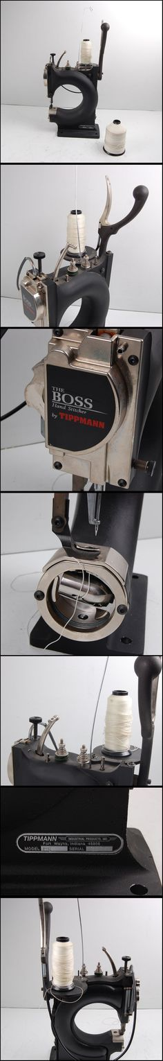 Boss Leather Sewing Machine Want one NOW! Tippmann Boss Model HS Hand Stitcher Leather Sewing MachineWant one NOW! Sewing Leather, Leather Craft, Sewing Tools, Sewing Hacks, Leather Tooling, Leather Bag, Leather Workshop, Antique Sewing Machines, Leather Projects