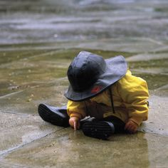 Child in the Rain...Oh the wonder seen through the eyes of a child...