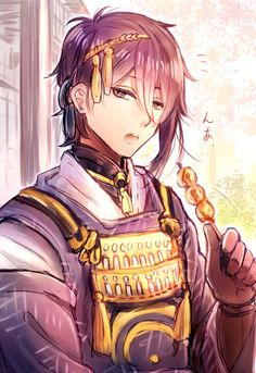 Mika in his rebellious stage, even then he already loved dango.