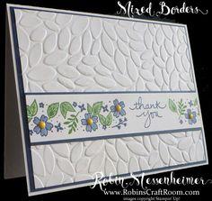 mixed borders - flowers; petal embossing folder