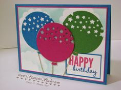 Stampin' Studio, Stampin' Up! Celebrate You, Balloon Thinlits, Confetti Stars Punch