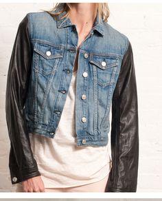 Pow Pow! Denim x Leather? Yes please.