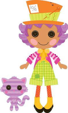Lalaloopsy w MiniMini+ - sekcja z grami i zabawami dla najmłodszych Halloween Circus, Wacky Hair, Hat Day, Mad Hatter Hats, Big Yellow, Pink Cat, Minis, Princess Peach, Fairy Tales