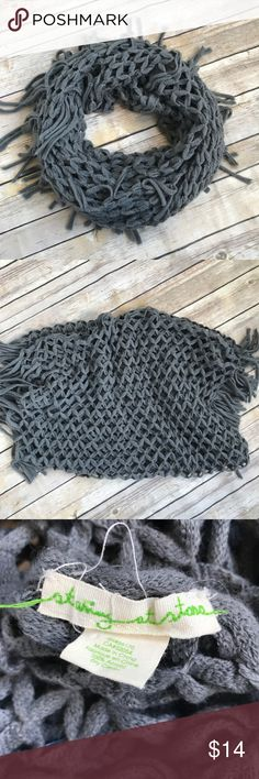 Urban Outfitters Staring at Stars Infinity Scarf Gray net/mesh knit Infinity Scarf by Staring at Stars for Urban Outfitters. Cute & versatile. 100% acrylic. Urban Outfitters Accessories Scarves & Wraps