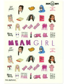 YOU CAN'T SIT WITH US!! MEAN GIRLS NAIL DECALS <3 <3