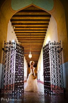 Wedding photos at the Santa Barbara Courthouse. Beautiful!