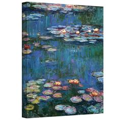 Claude Monet 'Water Lilies' Wrapped Canvas Art
