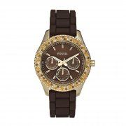 Fossil Ladies Stone Set Gold Tone Watch