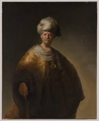 "KDS Photo, New York City Metropolitan Museum, oil painting by Rembrandt van Rijn, ""Man in Oriental Costume (The Noble Slav)"", 1632"