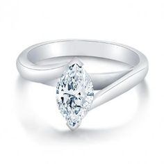 Trellis Style Marquise Diamond Ring- Love this setting very simple but elegant
