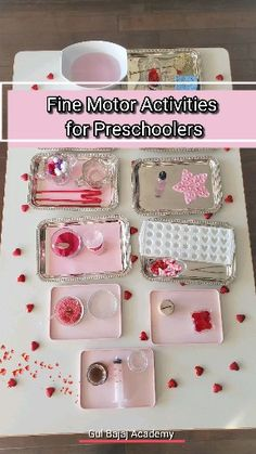 February month – five motor activities for toddlers and preschoolers. Preschool Fine Motor Skills, Fine Motor Activities For Kids, Preschool Learning Activities, Preschool Activities, Montessori Practical Life, Montessori Toddler, February Month, Creations, Visual Schedules