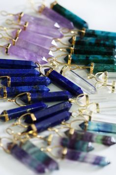 LAPIS LAZULI point necklace preorder 10/22 by keijewelry on Etsy