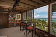 Calming: The home towers over surrounding settlements on Oahu island, which is also home to state capital Honolulu Garden Room, House, Home, Open Floor Plan, House Exterior, Floor Plans, Hawaii Homes, Stairs, Tree House