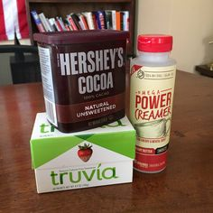 Wow! Best combination for Chocolate flavored Butter Coffee. 1 serving of the PowerCreamer + 1 teaspoon of Cocoa Powder + 1 packet of Truvia, blend and Voila!