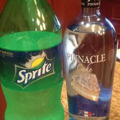 Pinnacle cake vodka and Sprite= adult key lime pie in a cup! So good