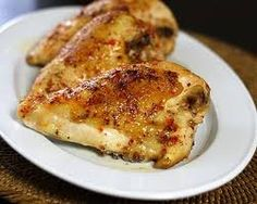 Oven Grilled Chicken Stuffed with Roasted Pepper and Garlic