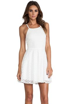 MINKPINK Up On The Ladder Skater Dress in White from REVOLVEclothing