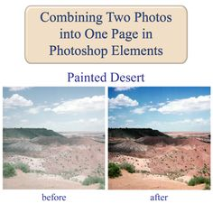 This tutorial will show you how to combine two photos into one document using Photoshop Elements and add some text to the new document.
