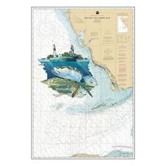 Steve Whitlock Nautical Chart Art - Backcountry Slam