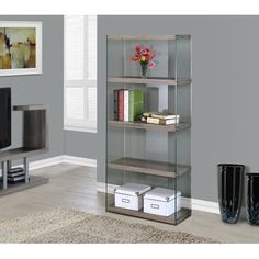 """Found it at Wayfair - Tempered Glass 60"""" Standard Bookcase"""