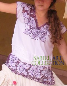 Mexican handmade embroidered blouse, Boho Chic Top, Vintage Style Blouse Bohemiam clothe  This is a real art work . Handmade on fresh cotton; the thick