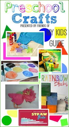 Fun Educational Preschool Crafts for Kids  to keep them busy all summer long. My favorite is number 2