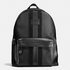 52cbaa942139 Shop The COACH Campus Backpack Rip And Repair With Varsity Stripe.