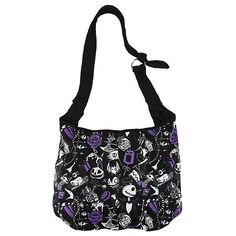 The Nightmare Before Christmas Sketch Icons Hobo Bag Hot Topic (21 AUD) ❤ liked on Polyvore featuring bags, handbags, shoulder bags, white handbags, tote purses, christmas tote bags, christmas totes and pocket tote bag