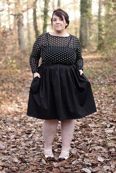 falda y blusa en transparencia