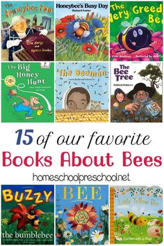 As we head into spring, we'll all be spending many more hours outdoors. Help eliminate your child's fear of bees with these fun picture books about bees. | homeschoolpreschool.net