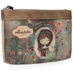 Etui Anekke Jane braun bunt Mädchen Buch Clutch, Lunch Box, Pocket, Bags, Fashion, Artificial Leather, Voyage, Handbags, Get Tan