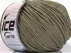 Bahar - Yaz İplikleri Yazlık İplikler Pamuk Bambu Natural Yarn Double Knitting Haki  İçerik 60% Bambu 40% Pamuk Khaki Brand Ice Yarns fnt2-50541 Ice Yarns, Bamboo Light, Fiber, Cotton, Low Fiber Foods