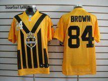 Pittsburgh Steelers #84 Antonio Brown Elite Yellow Jersey