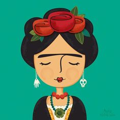 Yesterday was one of those days when I hit a creative brick wall and nothing worked. I really dislike those days.  So once again, I walked away and waited for a new day. Whenever I need a mood reset I go to Frida.