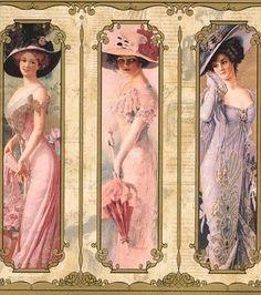 3 Victorian ladies - elegant