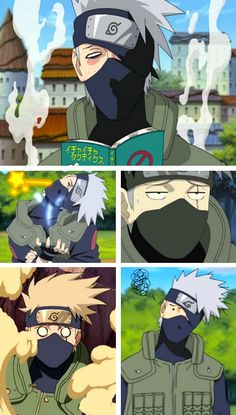Let's take a minute to appreciate the many faces of Kakashi Hatake