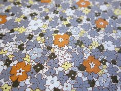 Japanese Cotton Fabric  Morning Glory on Gray  by theheydayshop, $7.80