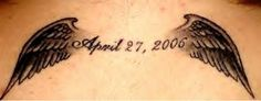 Angel Wings Tattoo Design, I would also add in an anchor with the date of my papaw's death. Papaw you are my guardian angel and sure do love and miss you!