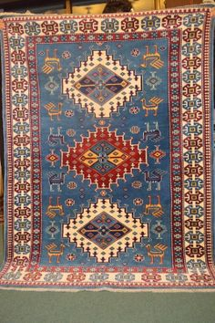 FREE SHIPPING - Beautiful Caucasian Shirvan turkmen carpet