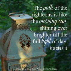 Chapter 1 ~ Morning by Morning ~ 31 Proverbs to Light Your Path