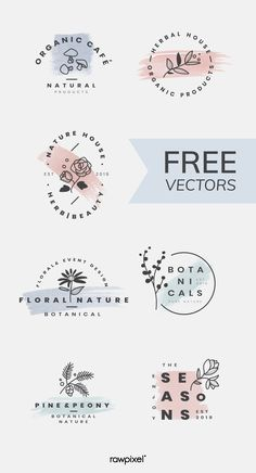 Download amazing botanical patterns, templates, posters, banners, and many more mockups, vectors, illustrations, and stock photos at rawpixel.com Web Design, Free Logo Design, Inspiration Logo Design, Minimal Logo Design, Floral Logo, Tattoo Fonts, Grafik Design, Identity Design, Logo Branding