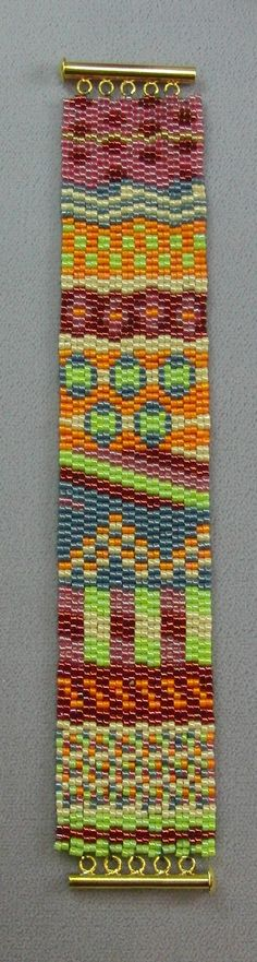 Multi-Sock Pattern Double Drop Peyote*  Original design by Christine Nordlund. You receive a color bead graph as well as a word chart. This pattern is worked in even count peyote (the easier count!).