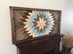 Kunst aan de muur van teruggewonnen hout houten wand decor