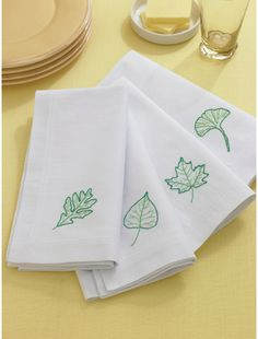 leaves embroidery~marthastewart