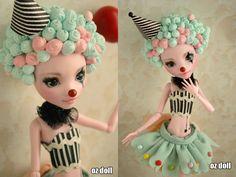 Custom monster high doll clown by OzDoll.deviantart.com on @deviantART