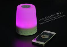 Bluetooth Lamp + Speaker - 7 Watt Speaker, Mood Lamp, Touch Button Contol, Hands Free, SD Card Slot